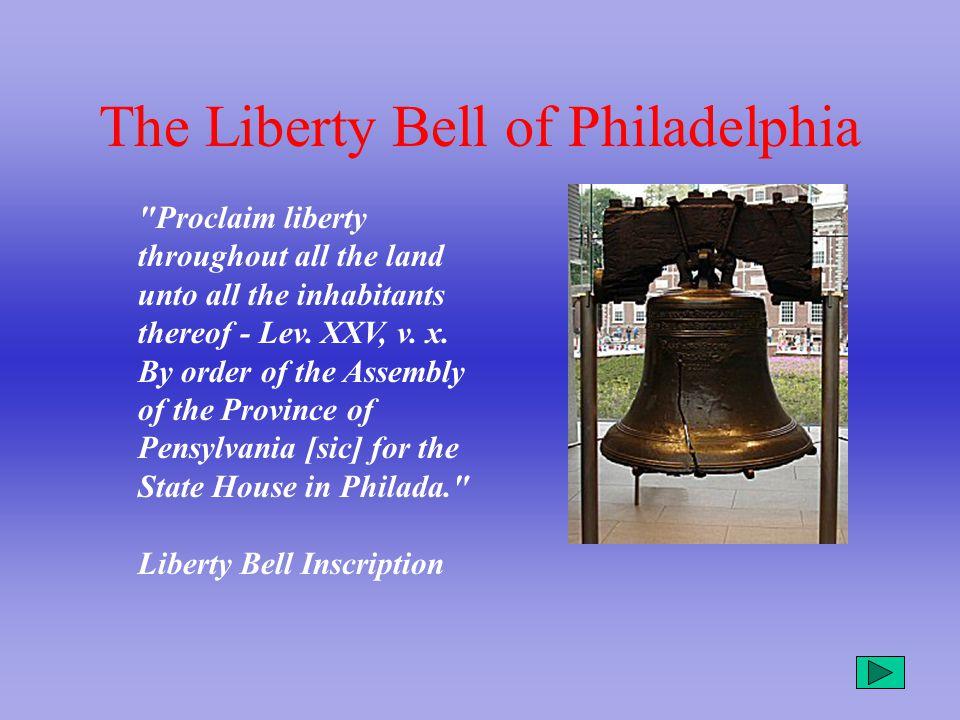 The Liberty Bell of Philadelphia