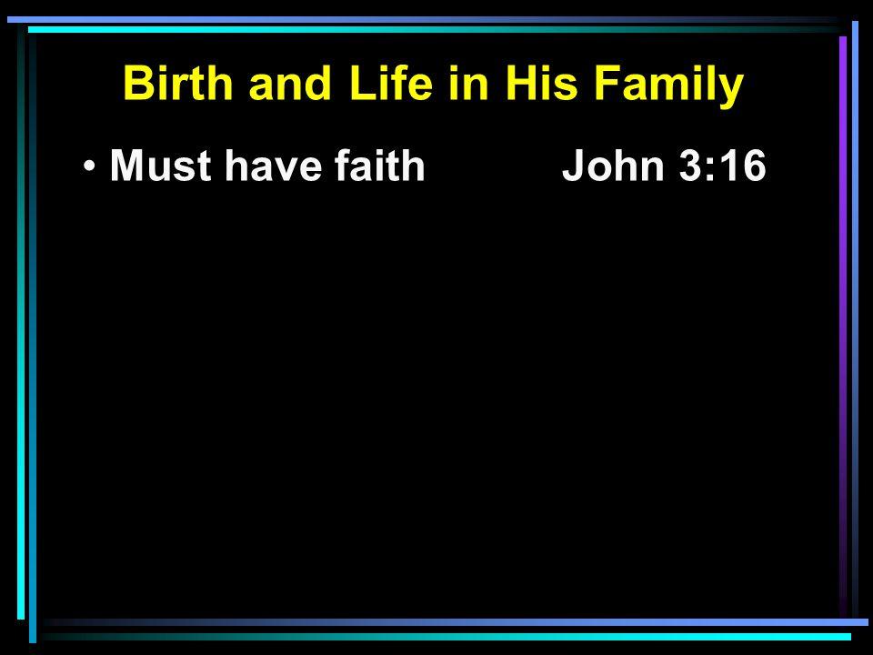 Must have faithJohn 3:16