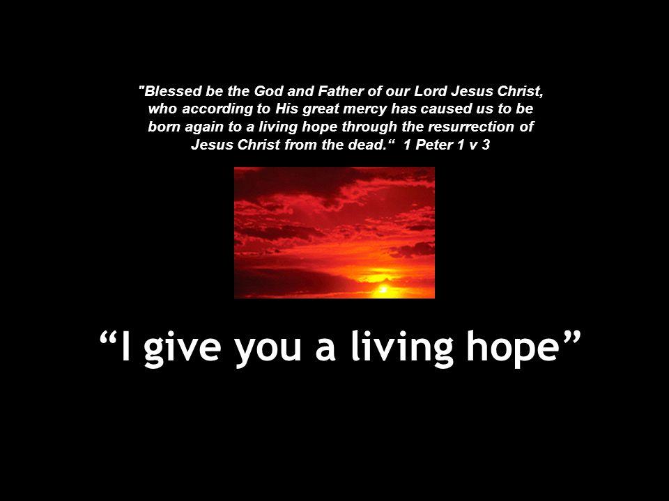 """""""I give you a living hope"""""""