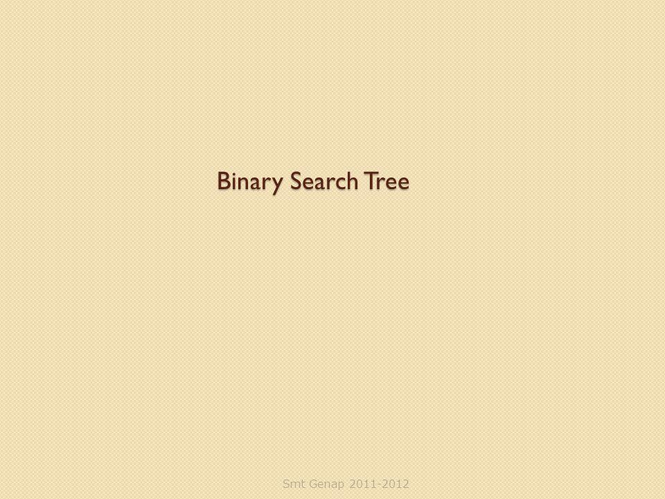 Binary Search Tree Smt Genap 2011-2012