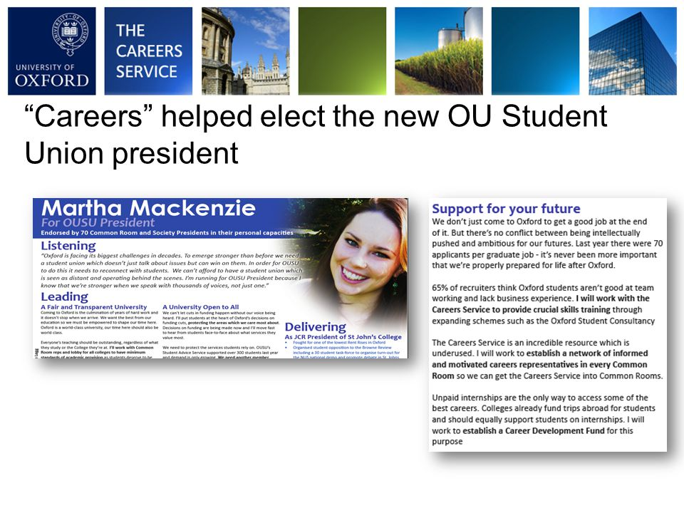 Careers helped elect the new OU Student Union president