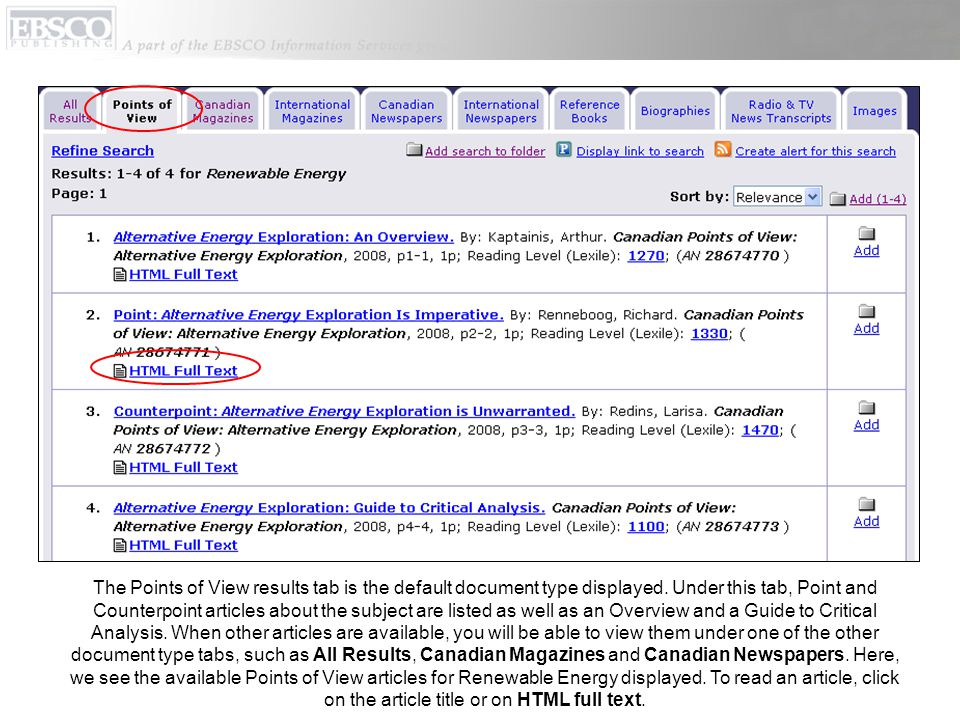 From the article citation, you can print, e-mail, save or export the article.