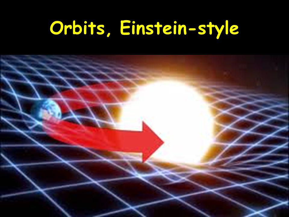 Orbits, Einstein-style