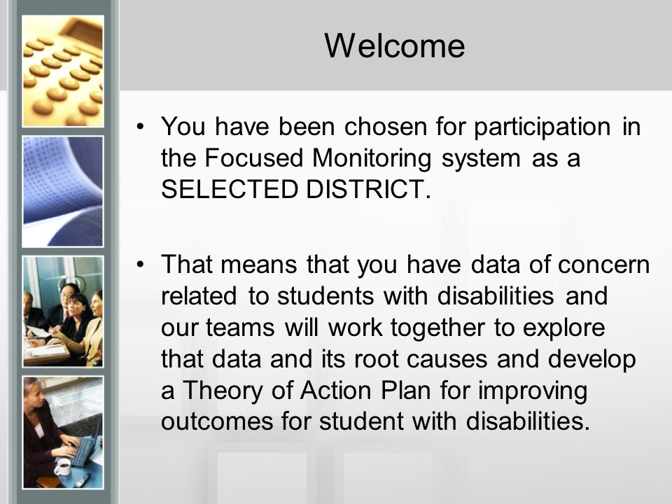 Welcome We'll assume that everyone has had an opportunity to review the training web- module at http://serc.info/fm1314 and has a sense of the overall process.