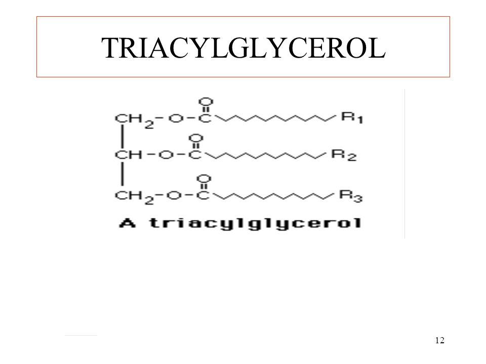 12 TRIACYLGLYCEROL
