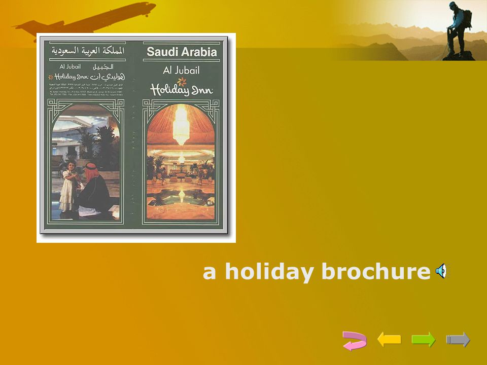 a holiday brochure