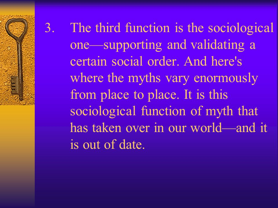 Joseph Campbell, cont. 1. The second is a cosmological dimension, the dimension with which science is concerned—showing you what the shape of the univ