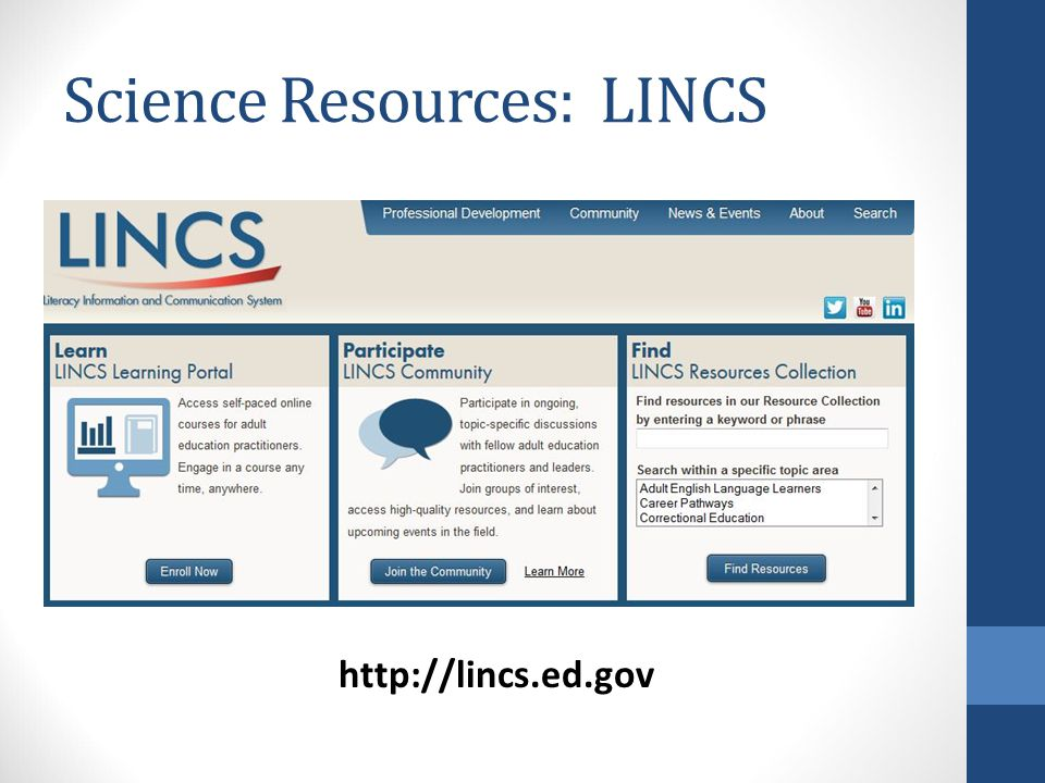 Science Resources: LINCS