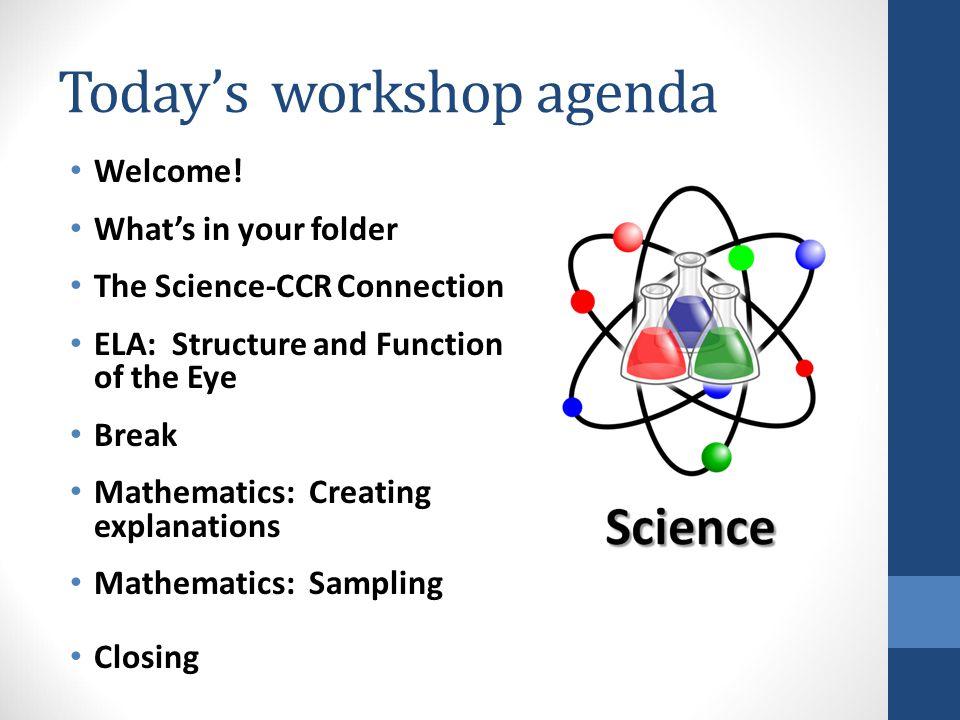 Today's workshop agenda Welcome.