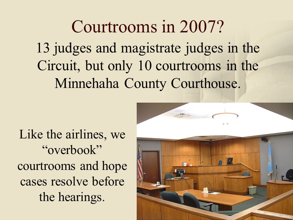 8 Courtrooms in 2007.