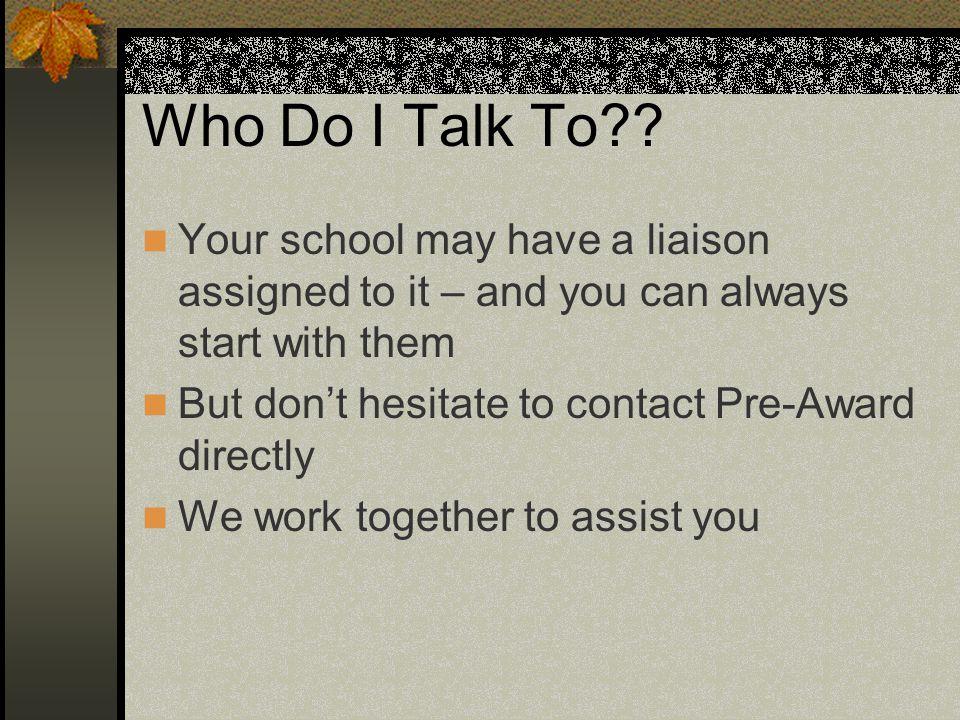 Who Do I Talk To .
