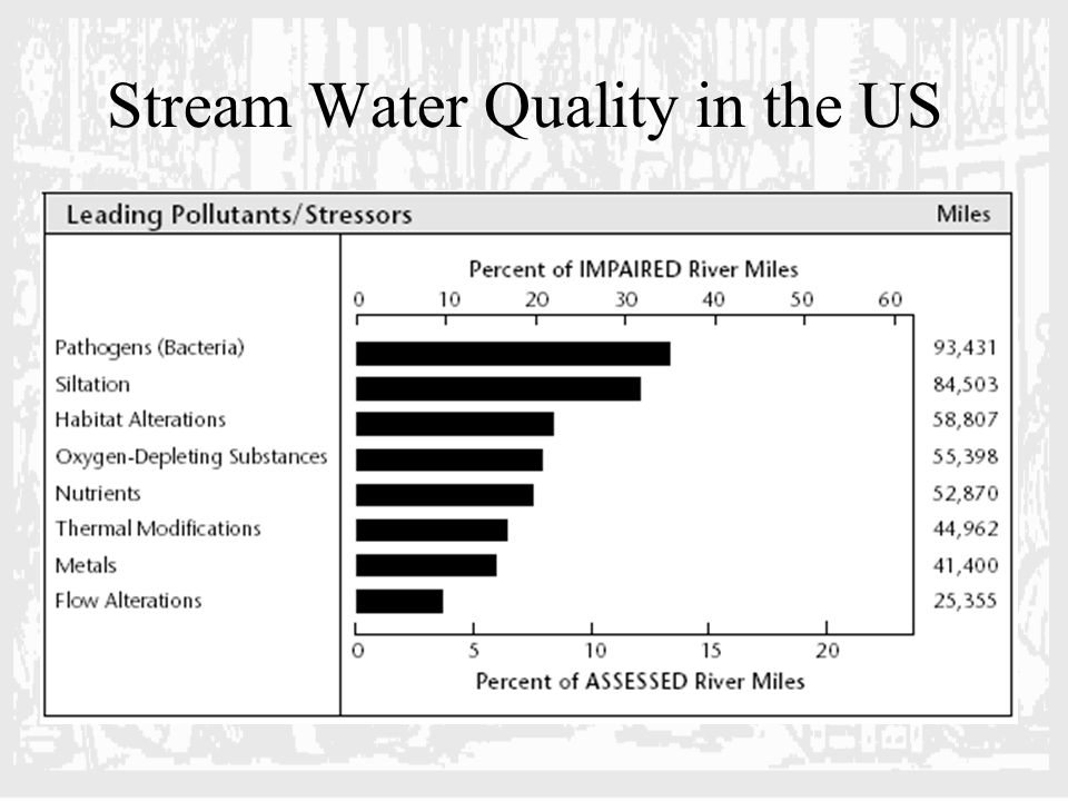 Stream Water Quality in the US