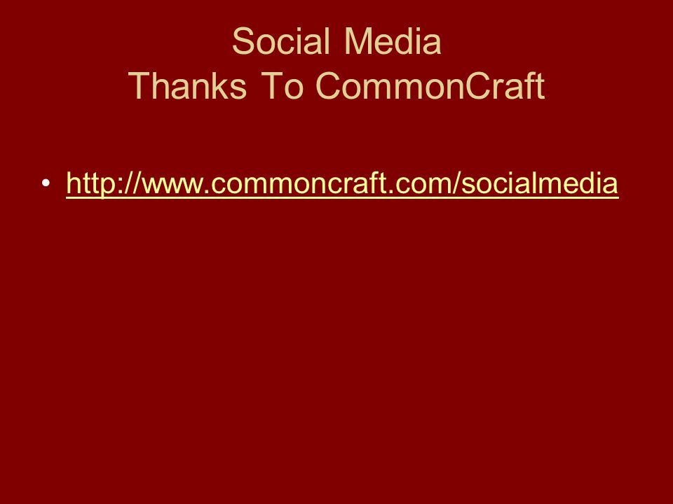 Social Media Thanks To CommonCraft