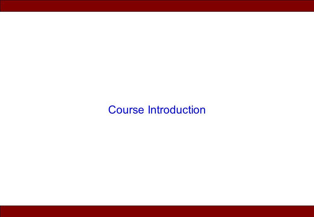 © 2010 Noah Mendelsohn Course Introduction