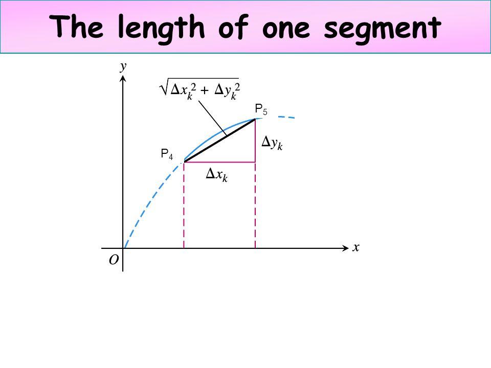 The length of one segment P4P4 P5P5