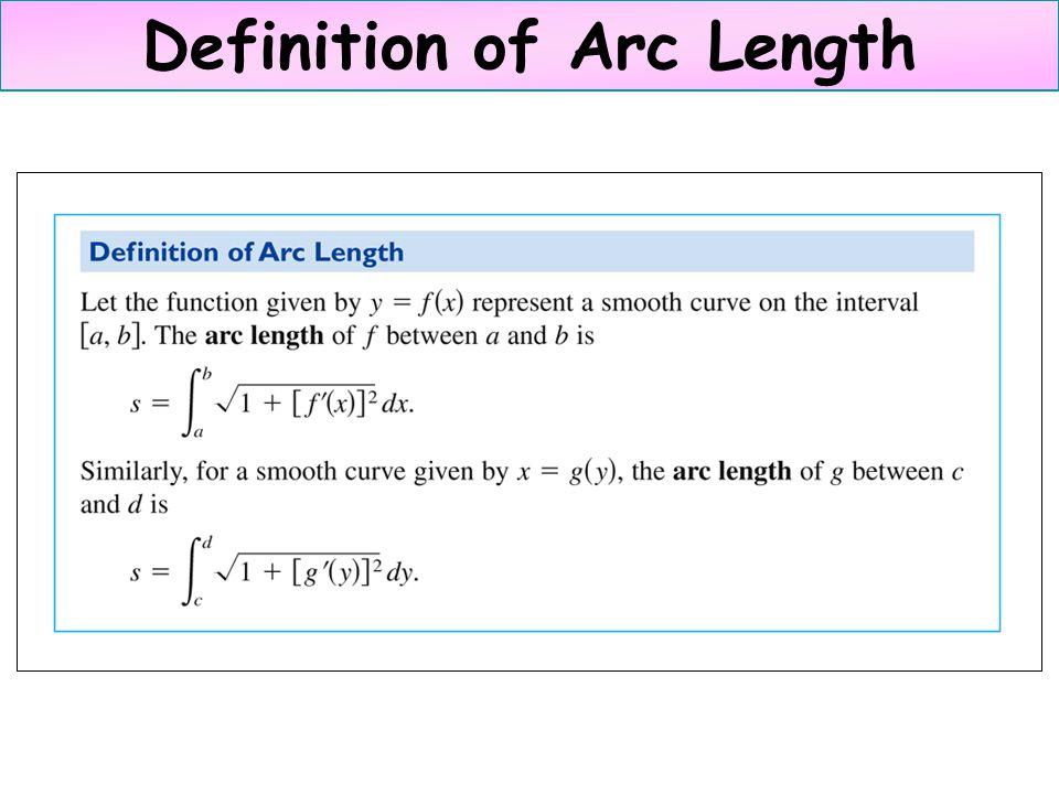 Definition of Arc Length