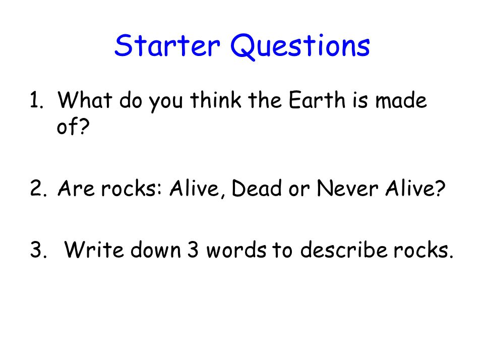 Structure of the Earth Today we will learn to Describe the layers which make up planet Earth We will do this by Listening to a description, drawing a diagram and answering questions.