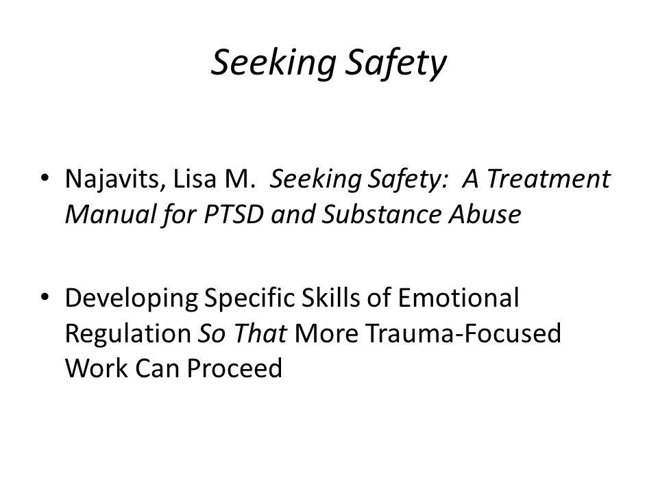 Seeking Safety Najavits, Lisa M.