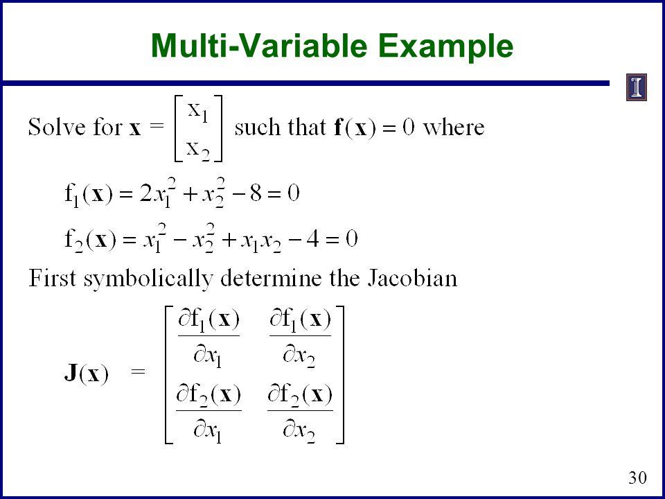 Multi-Variable Example 30
