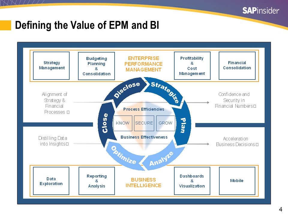 4 Defining the Value of EPM and BI