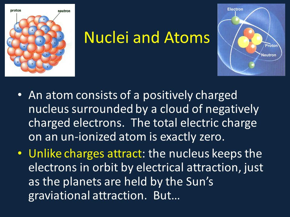 Attracting Neutrals A neutral conducting ball will be attracted by an electric charge: electrons will move around in the conductor to be closer to an external positive charge, so experiencing stronger force.