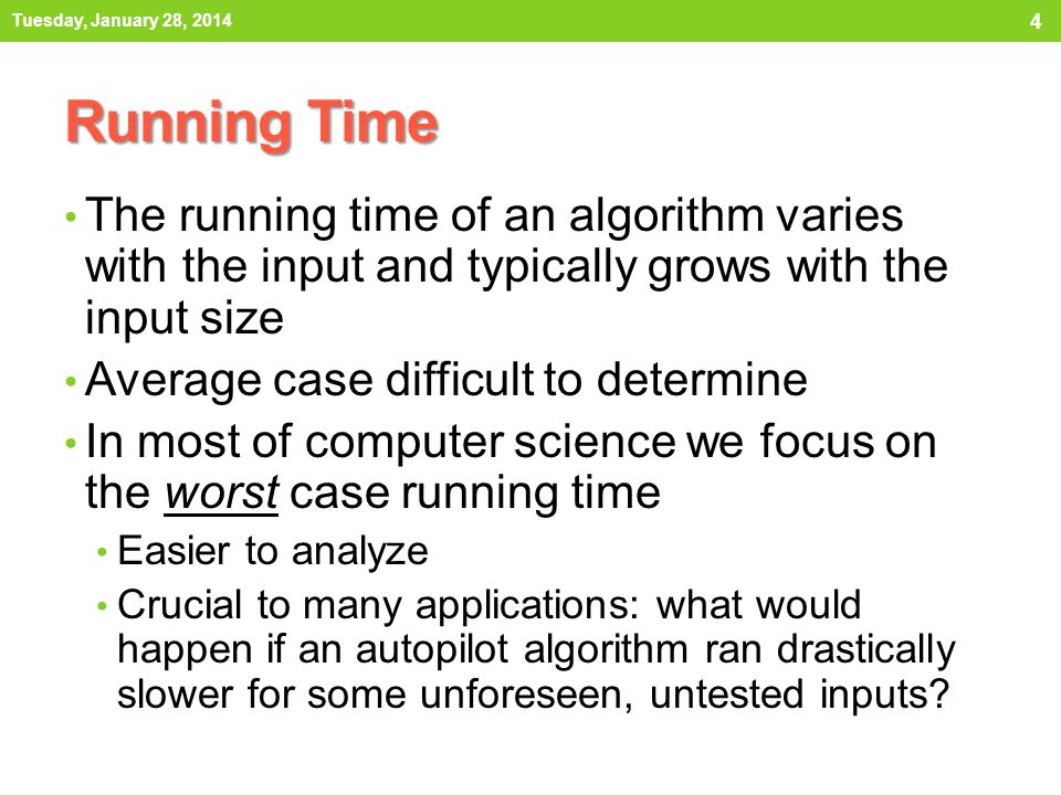 How to measure running time.