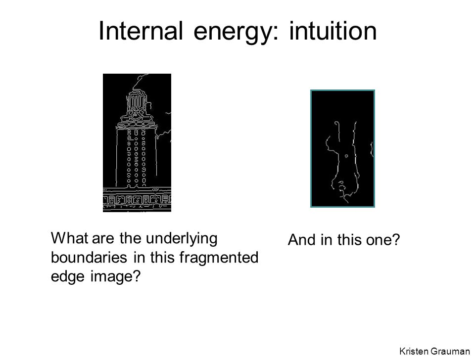 Internal energy: intuition What are the underlying boundaries in this fragmented edge image.