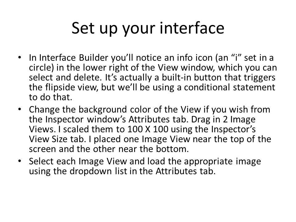 Remove Flipside View button