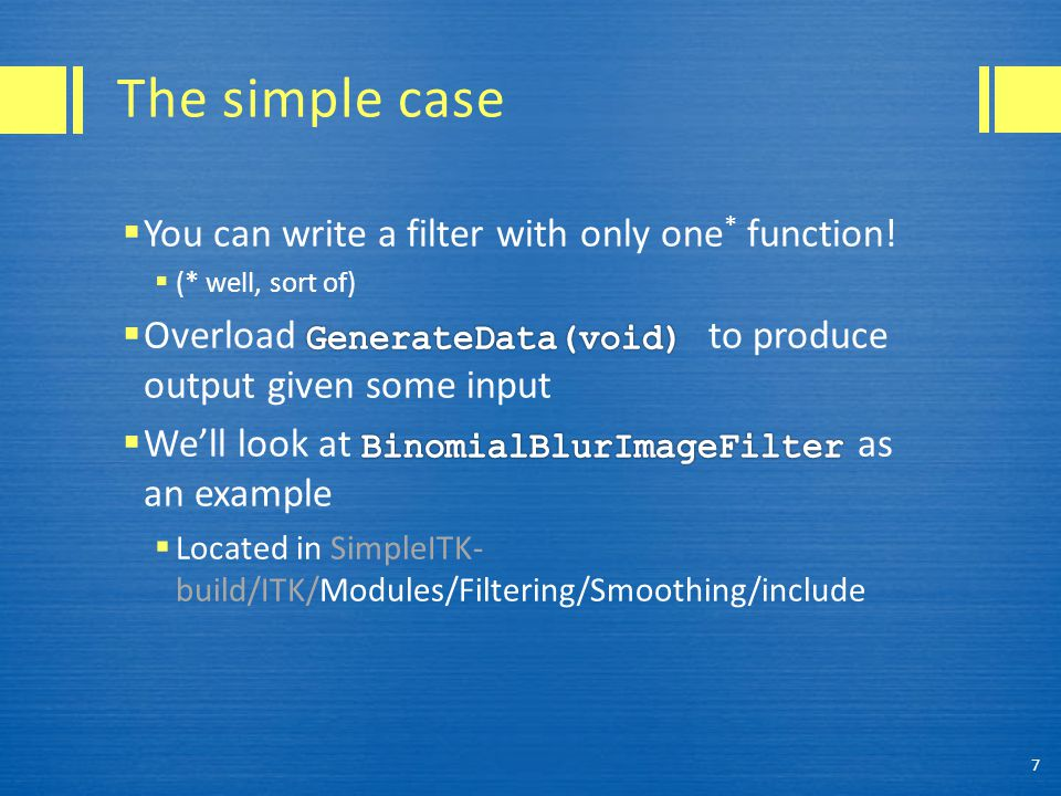 The simple case 7