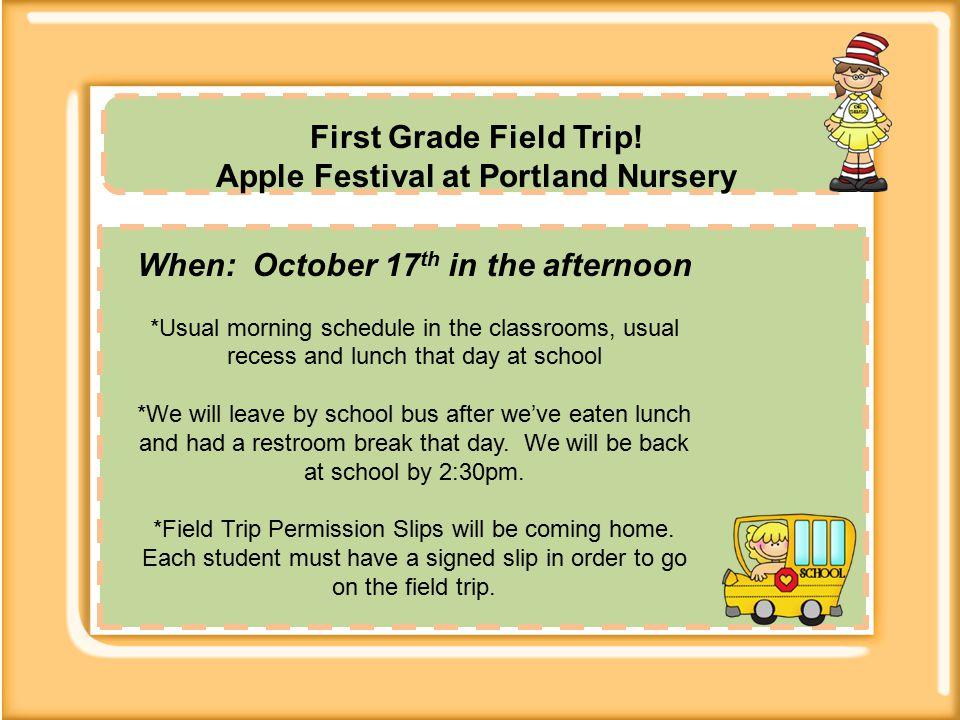 First Grade Field Trip.