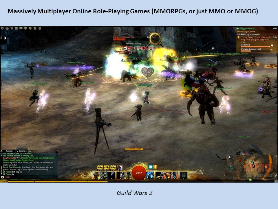 Massively Multiplayer Online Role-Playing Games (MMORPGs, or just MMO or MMOG) Guild Wars 2