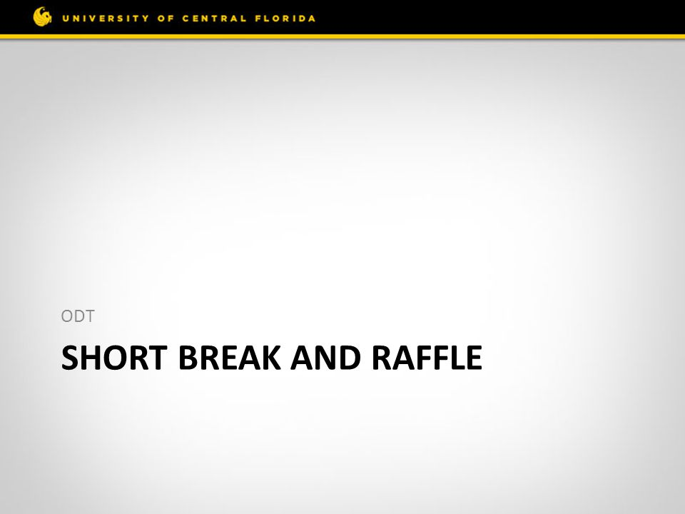 SHORT BREAK AND RAFFLE ODT