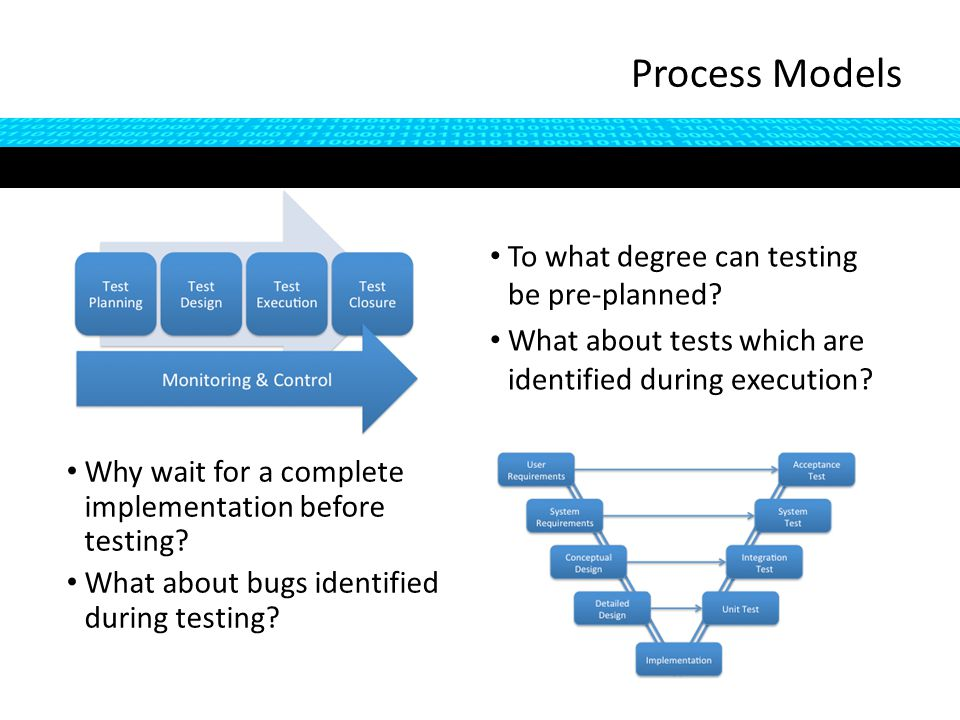 To what degree can testing be pre-planned. What about tests which are identified during execution.