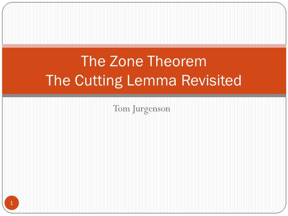Tom Jurgenson The Zone Theorem The Cutting Lemma Revisited 1