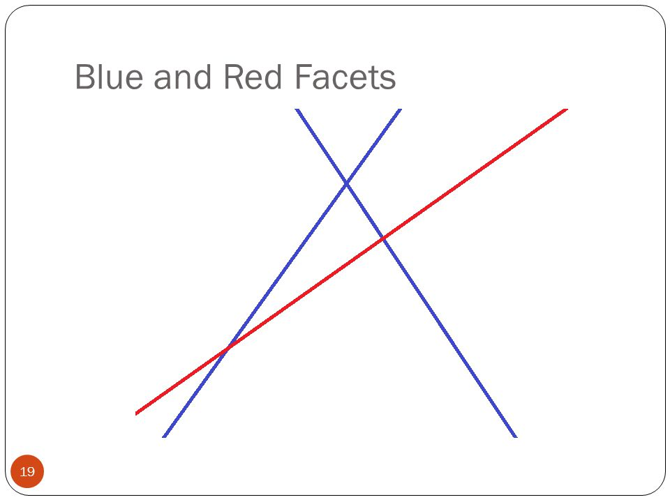 Blue and Red Facets 19