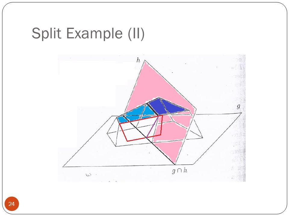 Split Example (II) 24