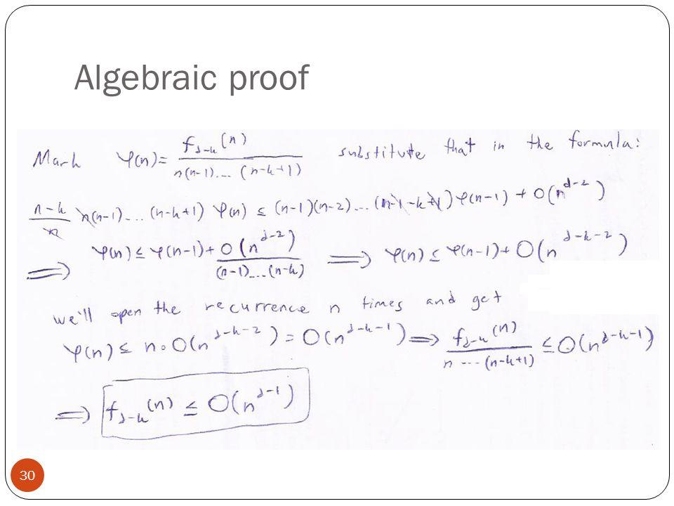 Algebraic proof 30