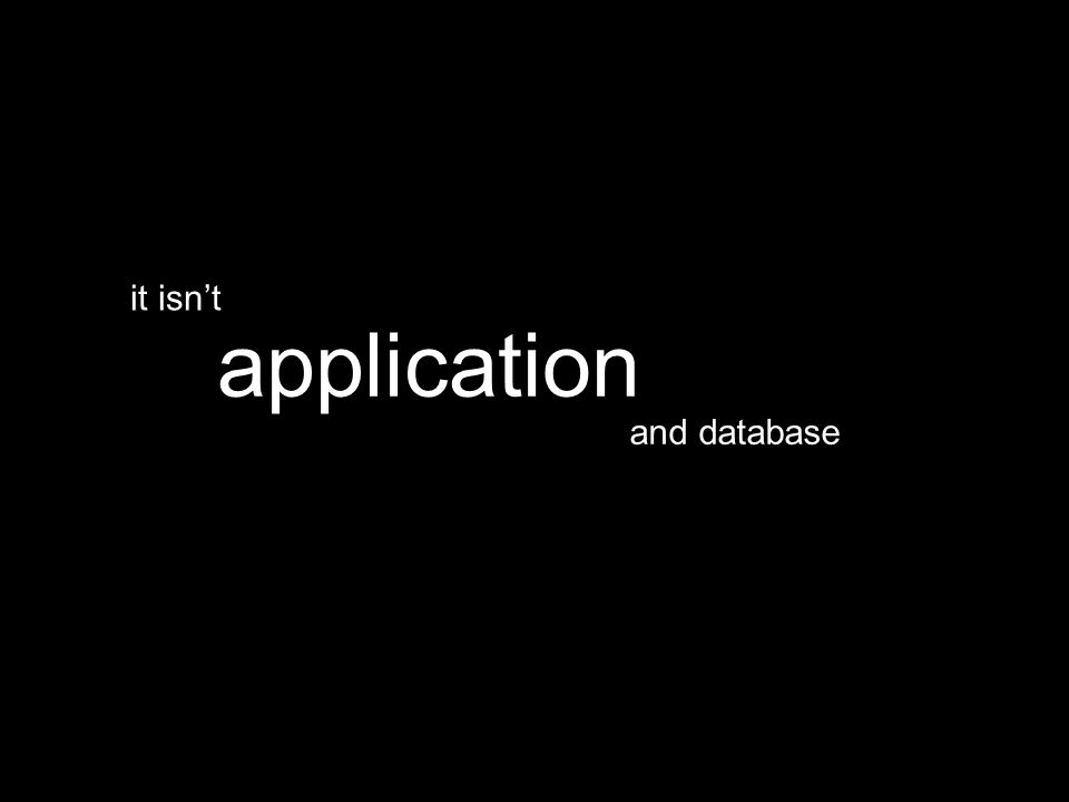 and database application it isn't