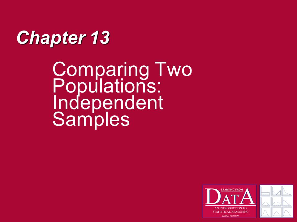 Chapter 13 Comparing Two Populations: Independent Samples