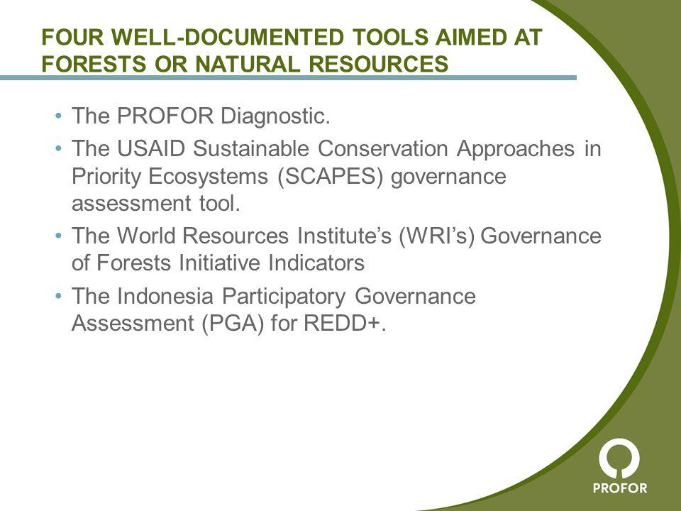 The PROFOR Diagnostic Tool
