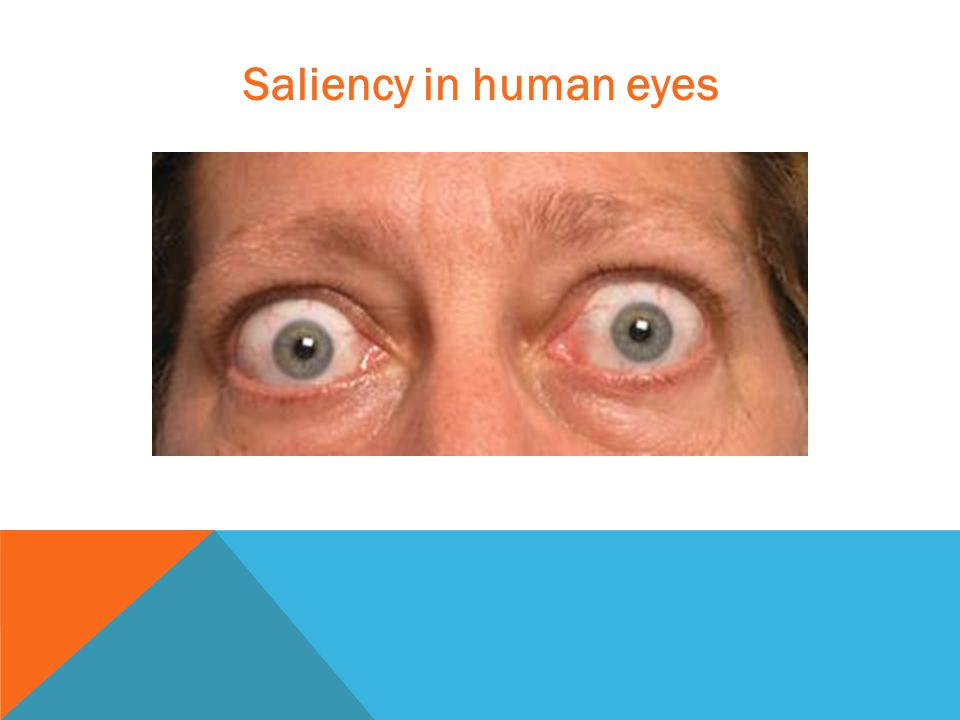 Saliency in human eyes