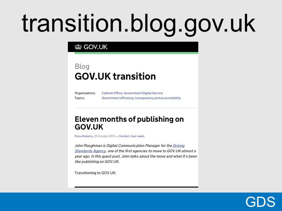 21 GDS transition.blog.gov.uk