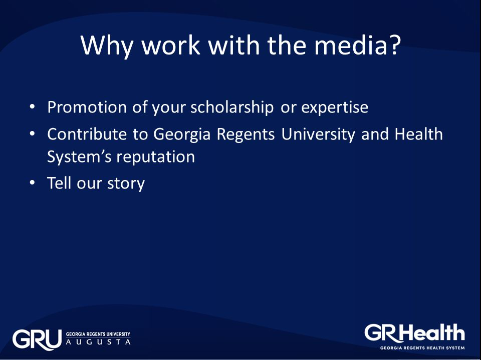 Why work with Media Relations.