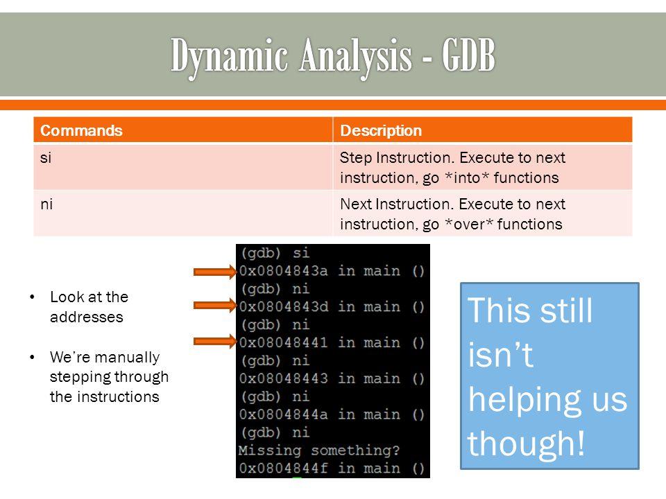 CommandsDescription siStep Instruction.