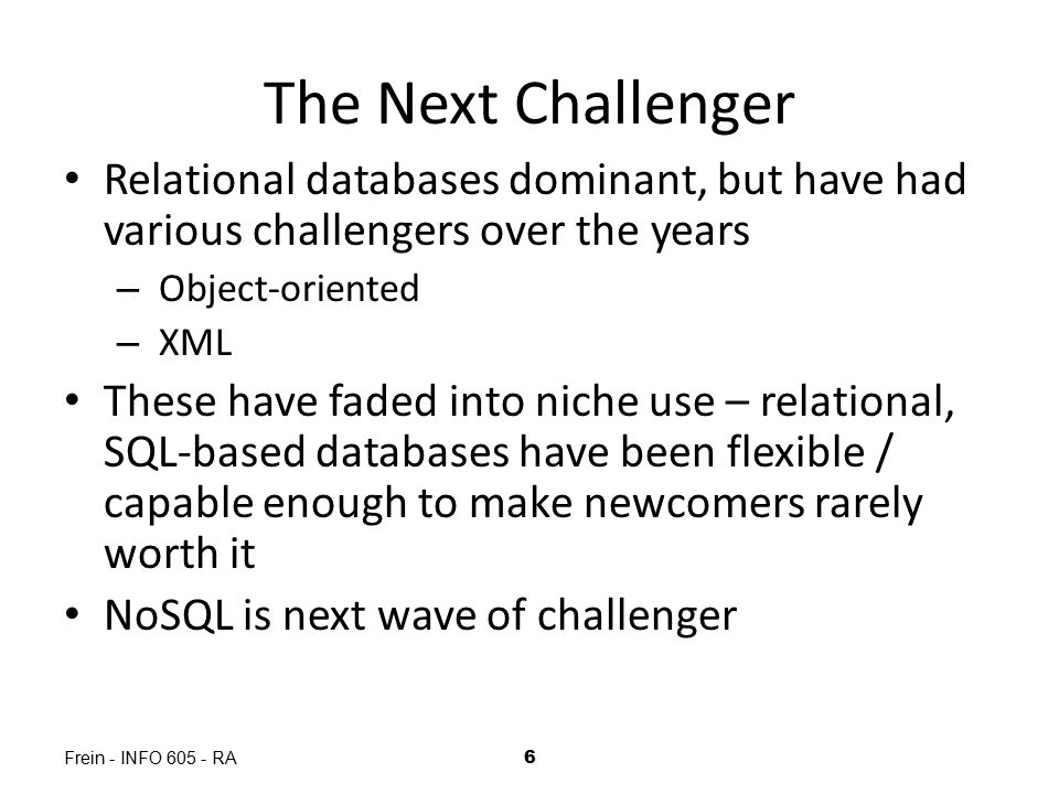 What is NoSQL.