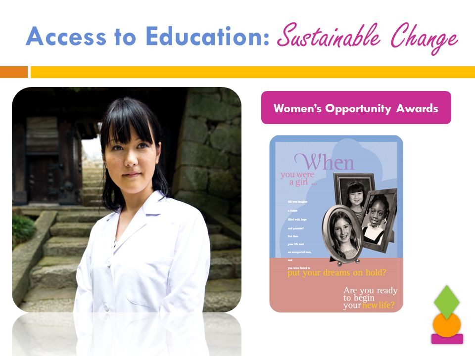 Access to Education: Women's Opportunity Awards Sustainable Change