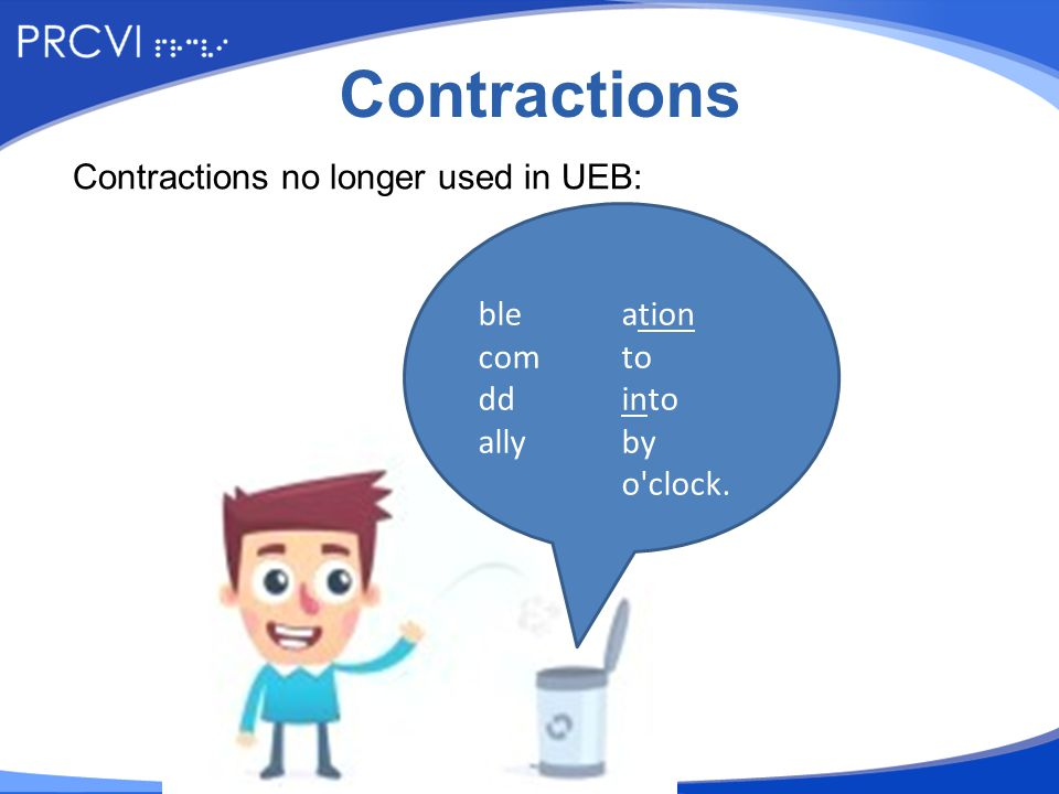 Activity Which contractions are no longer in use in this sentence.