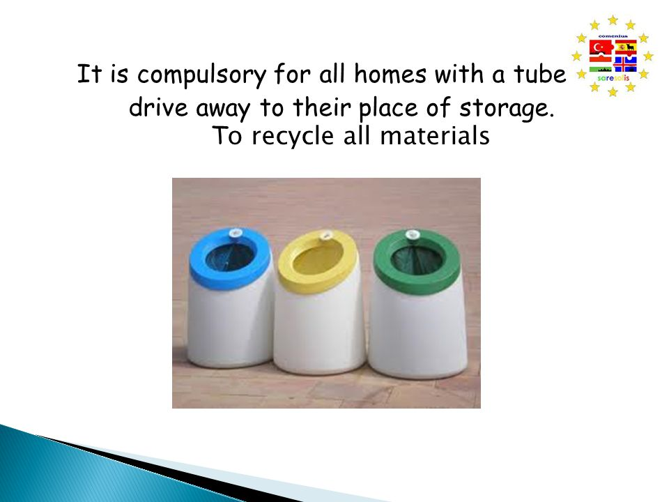 It is compulsory for all homes with a tube to drive away to their place of storage.