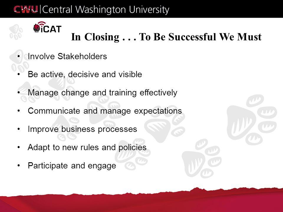 In Closing...