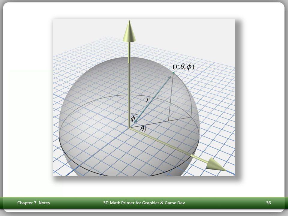 Chapter 7 Notes3D Math Primer for Graphics & Game Dev36